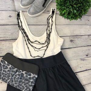 👗 Express | two tone tank dress